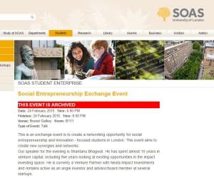 SOAS Event